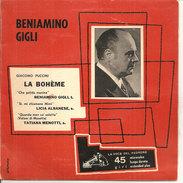 """Beniamino Gigli - La Bohème 7""""  M/VG+ - Classical"""