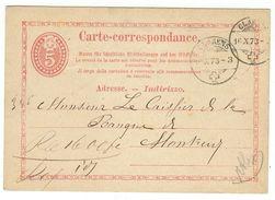 Suisse // Schweiz // Switzerland //  Entier Postaux 1870 // Entier Postal Au Départ De Clarens Le 16.10.1873 - Ganzsachen