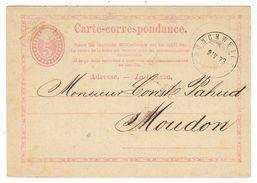 Suisse // Schweiz // Switzerland //  Entier Postaux 1870 // Entier Postal Au Départ De Munchweilen Le 08.04.1873 - Ganzsachen