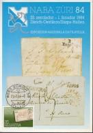 SCHWEIZ  1267 MK, NABA ZÜRI '84 - Maximumkarten (MC)