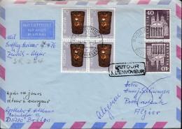 SCHWEIZ  1062 4erBlock, K 54 MiF, Auf AuslandsLuftpostbrief, Mit St: Zürich 4.4.1976, Erstflug Zürich-Algier SR 234 - Primi Voli
