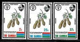 Gambia    Peanuts, FAO Emblem    Set   SC# 284-86 MNH** - Gambia (1965-...)