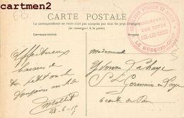 AIX-LES-BAINS CACHET MILITAIRE AMBULANCE PENSION DE DAMES BOULEVARD DES COTES AVENUE DE LA GARE GUERRE - Aix Les Bains