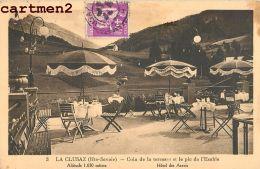 LA CLUSAZ TERRASSE HOTEL DES ARAVIS 74 HAUTE-SAVOIE - La Clusaz