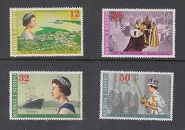 Samoa 1977 Silver Jubilee Of Queen Elizabeth II - MUH Set 4 - Familles Royales