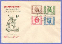 DDR SC #103-6 (Mi 311-4) 1952 Portraits FDC 08-11-1952 - [6] Democratic Republic