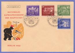 DDR SC #B22-5 (Mi 303-6) 1952 Reconstruction Program FDC 05-01-1952 - [6] Democratic Republic