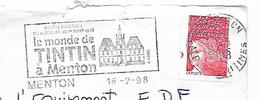 06  MENTON  Le Monde De Tintin à Menton  16/02/98 - Cómics