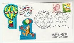 1993 Reno  TRANSGLOBAL BALLOON FLIGHT  COVER Stamps USA Ballooning - Transport