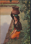 °°° 3963 - INDONESIA - A BALINESE GIRL WITH A WATER JAR °°° - Indonesia