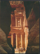 °°° 3968 - JORDAN - THE FIRST GLIMPSE OF THE KHAZNEH - FROM INSIDE THE SIQ - 1996 With Stamps °°° - Giordania