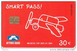 GREECE - Attica Highway, Smart Pass 30 Euro, Used - Andere Sammlungen