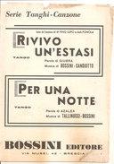 RIVIVO UN'ESTASI PER UNA NOTTE - Musica Popolare