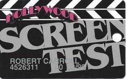 Hollywood Casino - Aurora, IL - 5th Issue Screen Test Slot Card - Globe Logo Reverse / 1-800-522-4700 Phone# - Casino Cards