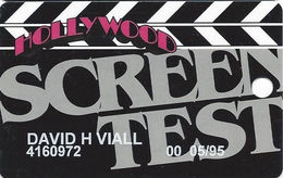 Hollywood Casino - Aurora, IL - 6th Issue Screen Test Slot Card - Globe Logo Reverse / 1-800-Gambler Phone# - Casino Cards