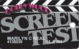 Hollywood Casino - Aurora, IL - 7th Issue Screen Test Slot Card - Www.hollywoodcasinoaurora.com Web Address - Casino Cards