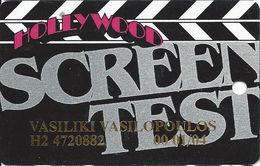 Hollywood Casino - Aurora, IL - 11th Issue Screen Test Slot Card - Black & White Logo On Back - No Signature Strip - Casino Cards