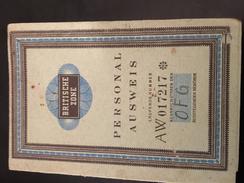 12-10_1951-DOCUMENTO STORICO-BERLINO-ZONA INGLESE - Briefe U. Dokumente