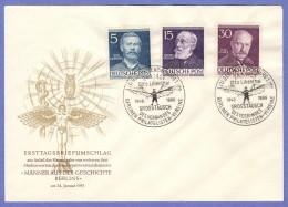 BER SC #9N85,9N89,9N92 (Mi 92,96,99) 1953 Lilienthal, Virchow, Planck FDC 01-24-1953 - [5] Berlin
