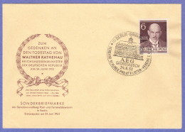 BER SC #9N86 (Mi 93) 1953 Rathenau FDC 06-24-1953 - Stamp Boxes
