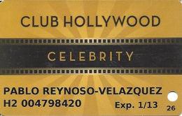 Hollywood Casino - Aurora, IL - Club Hollywood Celebrity Slot Card