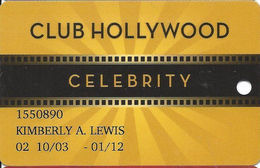 Hollywood Casino - Tunica, MS - Club Hollywood Celebrity Slot Card - Casino Cards