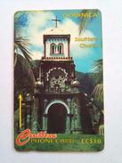Dominica Phonecard 119CDMA EC$10 Soufriere Church