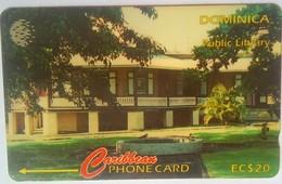 Dominica Phonecard 119CDMC EC$20 Public Library - Dominica