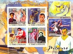 SAO TOME E PRINCIPE 2008 SHEET PABLO PICASSO ART PAINTINGS ARTE PINTURAS St8513a - Sao Tomé Y Príncipe