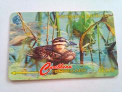 Antigua Phonecard 104CATD EC$20 Masked Duck