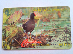 Antigua Phonecard 104CATA EC$10 Moorhen