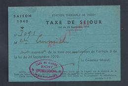 CARTE SAISON 1940 STATION THERMALE DE VICHY : - Cartes