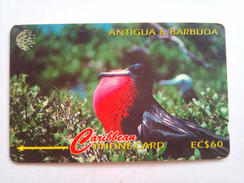 Antigua Phonecard 15CATA EC$60 Frigate Bird