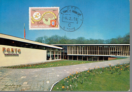 Expo Universelle Bruxelles 1958 Pavillon Du Portugal Avec Timbre Exposiçao Bruxelas 6/2/1959 - Sao Tome Et Principe