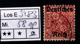 Los B9483: DR Mi. 58, Gest., Gepr. - Dienstpost
