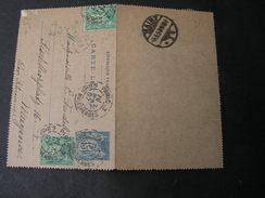 France Carte Lettre , 1897 Nach Mainz - 1898-1900 Sage (Type III)