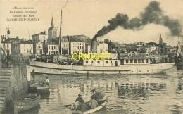 85 Les Sables D'Olonne, Le Bateau Excursionniste La Ville De Paimboeuf Sortant Du Port, Affranchie 1910 - Sables D'Olonne