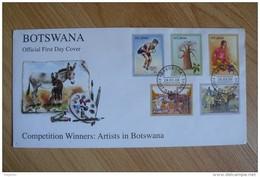 Botswana - Série Artistes Au Botswana (peintres) Sur FDC Année 2008 - Botswana (1966-...)