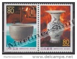 Japan - Japon 1998 Yvert 2469a-70a, Satsuma Porcelain - From Booklet - MNH - 1989-... Emperor Akihito (Heisei Era)