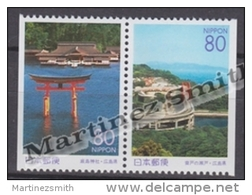 Japan - Japon 1998 Yvert 2455a-56a, Hiroshima & Ondo Bridge - From Booklet - MNH - 1989-... Emperor Akihito (Heisei Era)