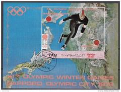 Bf. 148 YAR 1972 Yemen   XI Olimpiadi Invernali PATTINAGGIO Sapporo ´72 - Sheet Imperforato - Pattinaggio Artistico