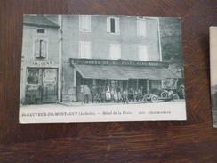 CPA 07 Ardèche Saint Sauveur De Montagut Hôtel De La Poste     TBE - Francia