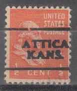 USA Precancel Vorausentwertung Preos Locals Kansas, Attica 701
