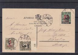 Lituanie - Carte Postale De 1923 - Oblit Kaunas - Exp Vers L'Autriche