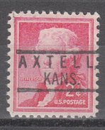 USA Precancel Vorausentwertung Preos Locals Kansas, Axtell 801