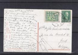 Lituanie - Carte Postale De 1936 - Oblit Panev ? - Exp Vers Gand En Belgique - Lithuania