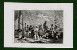 ST-FR Négrier Poursuivi, Jetant Ses Nègres à La Mer 1848 RARE ! - Estampes & Gravures