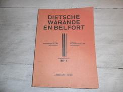 Dietsche Warande En Belfort - Maandschrift N° 1  Januari 1939  - Vlaamse Beweging  - Vlaams - Nationalisme  - - Histoire