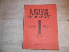 Dietsche Warande En Belfort - Maandschrift N° 4 April 1939  - Vlaamse Beweging  - Vlaams - Nationalisme  - - Histoire