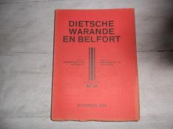 Dietsche Warande En Belfort - Maandschrift N° 11  November 1939  - Vlaamse Beweging  - Vlaams - Nationalisme  - - Histoire